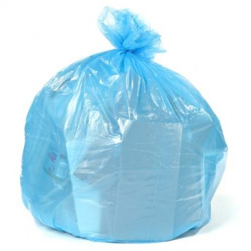 12-16 Gallon Recycling Bags - 250 / Case - Blue